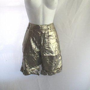 NEW 3.1 PHILLIP LIM LAME GLAM Shorts Metallic